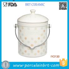 Bouteille en céramique faite sur commande de pot de stockage de compost fait sur commande
