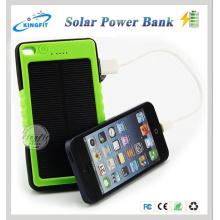 Viagem ao ar livre impermeável Mobile Phone Solar Power Bank Carregador 8000mAh