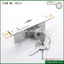 moving door lock fitting with wooden door