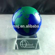 кристалл модель глобус ,хрустальный шар,буле кристалл мир с красочными карте