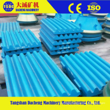 Crusher Manganese Parts Cheek Wear Jaw Plate
