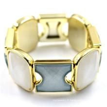 Antique Style Energy Wrap Matel avec bracelet en cristal