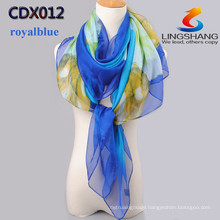 2015 New arrive Fashion multicolor Velvet chiffon scarves silk scarf Korea printed scarves quality long shawl cape