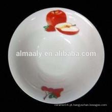 barato tigela de macarrão de porcelana com decalque da fruta