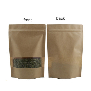 Kraftpapier Stand Up Kaffee Zip Bag