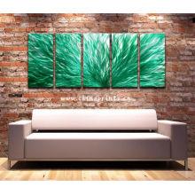 Heiße Verkaufs-abstrakte grüne Ölgemälde für Hauptdekoration