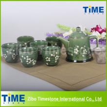 Hot Sale Steinzeug handbemaltes Teeset