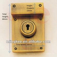 Caja de bloqueo rectangular para bolso de cuero