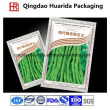Bolso de empaquetado plástico de las semillas laminadas de tres sellos, bolsa plástica de las semillas