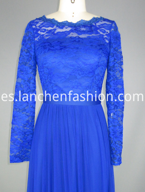 evening dress lace sleeves