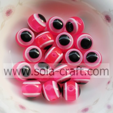 Factory Price 10MM 500Pcs Rose Chunky Gumball Bubblegum Resin Wholesale Round Loose Beads For Necklace Jewelry