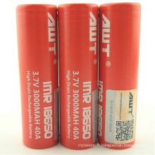 Alle 18650 40A 3000mAh, Lithium Ion Rechargeable 18650 Batterie pour Ecigs Mods