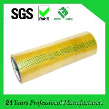 Fita de embalagem adesiva amarelada derretimento quente de BOPP