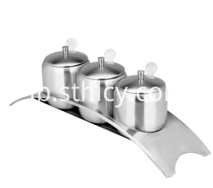 stainless steel condiment pot