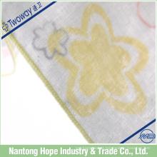 Lenço de algodão de 3 dobras que imprime flores bonitos