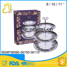 OEM orders are welcome 3 layers round melamine dining plate set