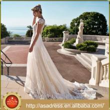 ASWY11 Elegant Aline Lace Bridal Gown vestidos de novia 2017
