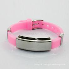 2014 розовый силиконовый браслет энергии силиконовой лентой
