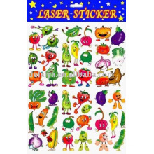 Наклейка мультфильм овощи