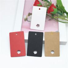 clipe de cabelo cartão papel cartão rosa caixa de cílios