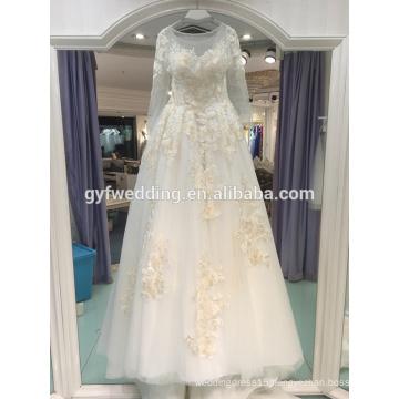 Wedding dress 2017 new elegant European and American fashion embroidery wedding custom LJ10055