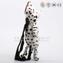Multifunctional plush dog shaped handbag