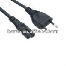 European 2 Pin Power Cable