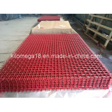 High Carbon Steel Crimped Screen Mesh with Red Color