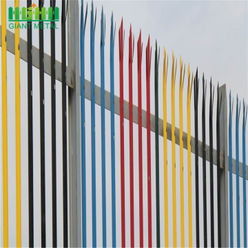 safety galvanized after welding steel palisade fencing