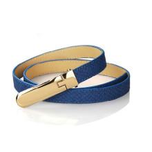 Lady fashion imitation snake skin pu leather belt