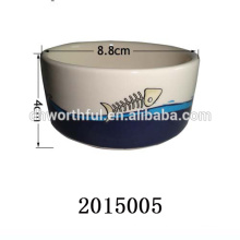 Alimentador de gato de cerâmica de impressão de peixes de alta qualidade