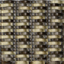 Wave Gold Mosaic Wall Tile, Glass Mosaic