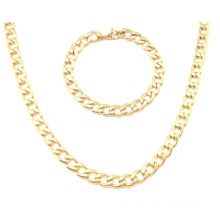 Stainless Steel Gold Fashion Jewelry Necklace Set