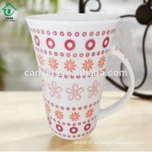 2015 Alimentación contacto seguro popular fino porcelana térmica cappuccino taza