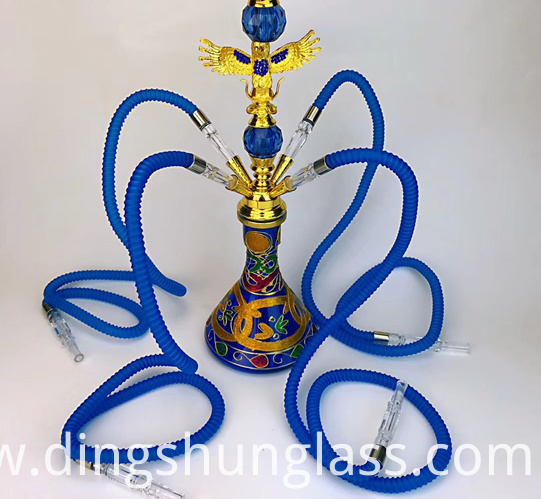 Blue glass hookah