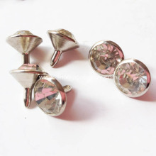 Round Crystal Rhinestone Rivets with Sharp-Bottomed