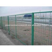 Malla de valla revestida de PVC carretera