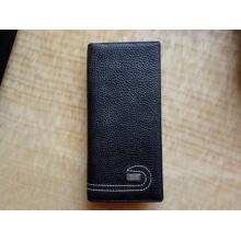 Guangzhou Supplier Designer Leather Long Men Carteira Passport Card Bag (Z-113)