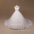 New A line ivory lace plus size bridal gown wedding dress
