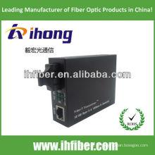 10 / 100M SC SM Fibra Óptica Dual Media Converter
