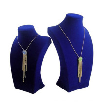 Поп синий флок МДФ ожерелье Дисплей стенд оптом (НС-Блю-F48)