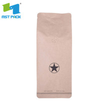 custom printed compostable kraft paper aluminum stand up pouch