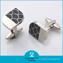 New Come Fashion Silver Metal Cufflinks with Customed Logo (BC-0019)