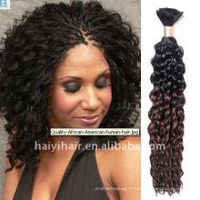 Différentes couleurs naturelles cheveux bouclés
