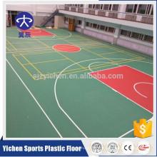 3.5mm, 4.5mm vente chaude PVC sport couvre-plancher pour basket-ball / badminton / volley-ball