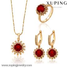 62958-Xuping Moda 18k Gold Costume Jewelry Set Jóias na moda