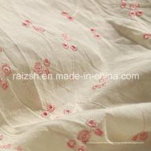 Tissus de coton Tissu de lin brodé avec protection contre les rayonnements