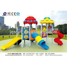 JS06202 Lastest Outdoor Play Ground Equipment Kids Plastic Playground Items