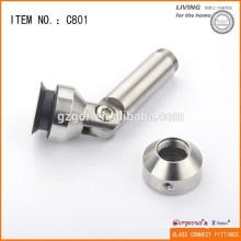 304 нержавеющая сталь Регулируемый стеклянный перила Угловой соединитель