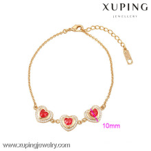 73933-Xuping Jóias Hight Qualidade Fine Banhado A Ouro Pulseira Para Woamn